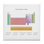 Colorful Periodic Table Tile Coaster