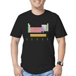 Colorful Periodic Table Men's Fitted T-Shirt (dark