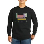 Colorful Periodic Table Long Sleeve Dark T-Shirt