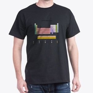 Colorful Periodic Table Dark T-Shirt