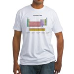 Colorful Periodic Table Fitted T-Shirt