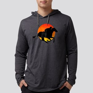 Horse Racing Mens Hooded Shirt