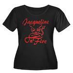 Jacqueline On Fire Women's Plus Size Scoop Neck Da