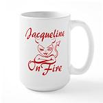 Jacqueline On Fire Large Mug