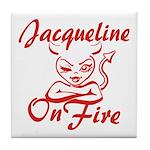 Jacqueline On Fire Tile Coaster