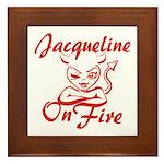 Jacqueline On Fire Framed Tile