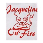 Jacqueline On Fire Throw Blanket