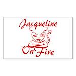 Jacqueline On Fire Sticker (Rectangle)
