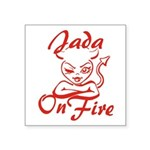 Jada On Fire Square Sticker 3