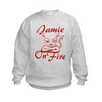 Jamie On Fire Kids Sweatshirt