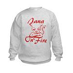 Jana On Fire Kids Sweatshirt