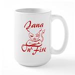 Jana On Fire Large Mug