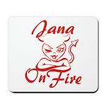 Jana On Fire Mousepad