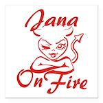Jana On Fire Square Car Magnet 3