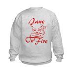 Jane On Fire Kids Sweatshirt