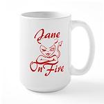 Jane On Fire Large Mug
