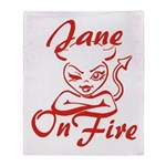 Jane On Fire Throw Blanket