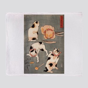 Utagawa Kuniyoshi Cats Throw Blanket