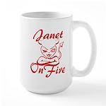 Janet On Fire Large Mug