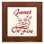 Janet On Fire Framed Tile