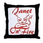 Janet On Fire Throw Pillow