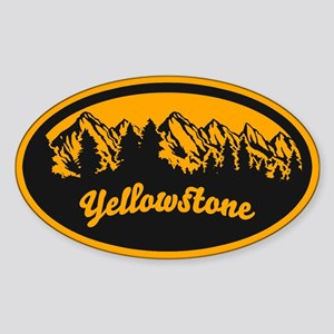 Yellowstone Oval Sticker Sticker (Oval)