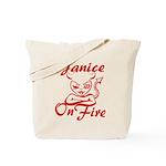 Janice On Fire Tote Bag