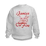 Janice On Fire Kids Sweatshirt