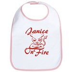 Janice On Fire Bib