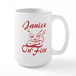 Janice On Fire Large Mug