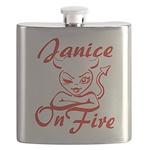 Janice On Fire Flask