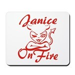 Janice On Fire Mousepad