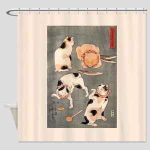 Utagawa Kuniyoshi Cats Shower Curtain