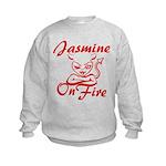 Jasmine On Fire Kids Sweatshirt
