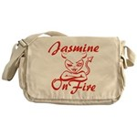 Jasmine On Fire Messenger Bag
