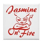 Jasmine On Fire Tile Coaster