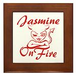 Jasmine On Fire Framed Tile
