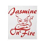 Jasmine On Fire Throw Blanket