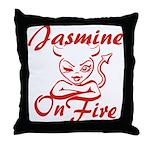 Jasmine On Fire Throw Pillow