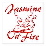 Jasmine On Fire Square Car Magnet 3