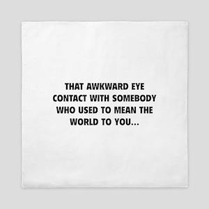 Awkward Eye Contact Queen Duvet