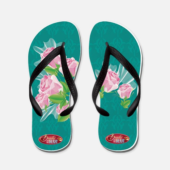 Unique Beauty and the beast Flip Flops