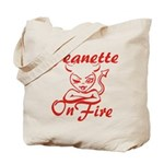 Jeanette On Fire Tote Bag