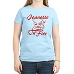 Jeanette On Fire Women's Light T-Shirt