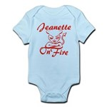 Jeanette On Fire Infant Bodysuit