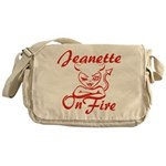 Jeanette On Fire Messenger Bag