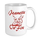 Jeanette On Fire Large Mug