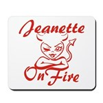 Jeanette On Fire Mousepad
