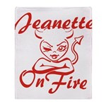 Jeanette On Fire Throw Blanket