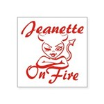 Jeanette On Fire Square Sticker 3